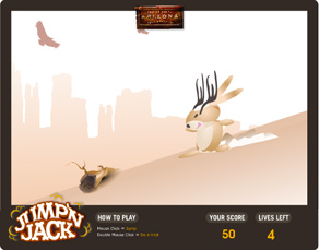 Jump'n Jack Web game designed by Zephyr Syndicate Chauncey Hollingsworth