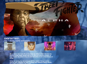 Street Fighter Alpha Generations website designed by Zephyr Syndicate Chauncey Hollingsworth