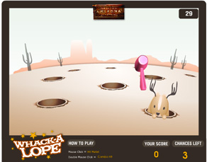 Whack-a-Lope game designed by Zephyr Syndicate Chauncey Hollingsworth